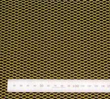 Сетка алюм. ромб RN10155 жёлтая 100х15см