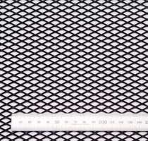 Сетка алюм. ромб RN16251 чёрная 100х25см