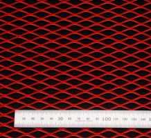Сетка алюм. ромб RN25254 красная 100х25см