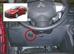 замок на руль Sentry Spider для Mitsubishi Lancer X 09-12 бесштыревой