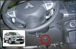 замок на руль Sentry Spider для Mitsubishi Outlander XL 08-12 бесштыревой