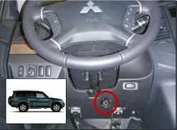 замок на руль Sentry Spider для Mitsubishi Pajero 4 09-12 бесштыревой