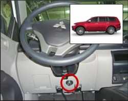 замок на руль Sentry Spider для Mitsubishi Pajero Sport 09-12 бесштыревой