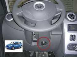 замок на руль Sentry Spider для Renault Logan/Sandero(регулир.рул.колонка АКПП)