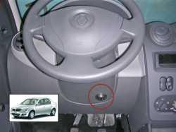 замок на руль Sentry Spider для Renault Logan/Sandero(нерег.рул. колонка)