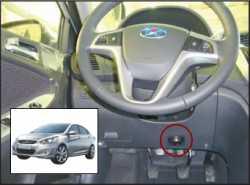замок на руль Sentry Spider для Hyundai Solaris 2011-12