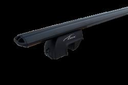 Lux багажник с дугами 1,3м аэро 73 чёрные для а/м с рейлингами