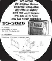 рамка для магнтолы Metra 95-5026 для Ford
